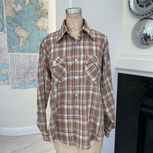Vintage 1970s Levi's plaid shirt large